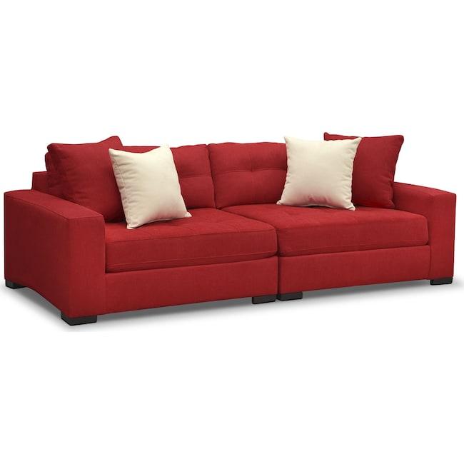 Living Room Furniture - Venti Modular Sofa - Red