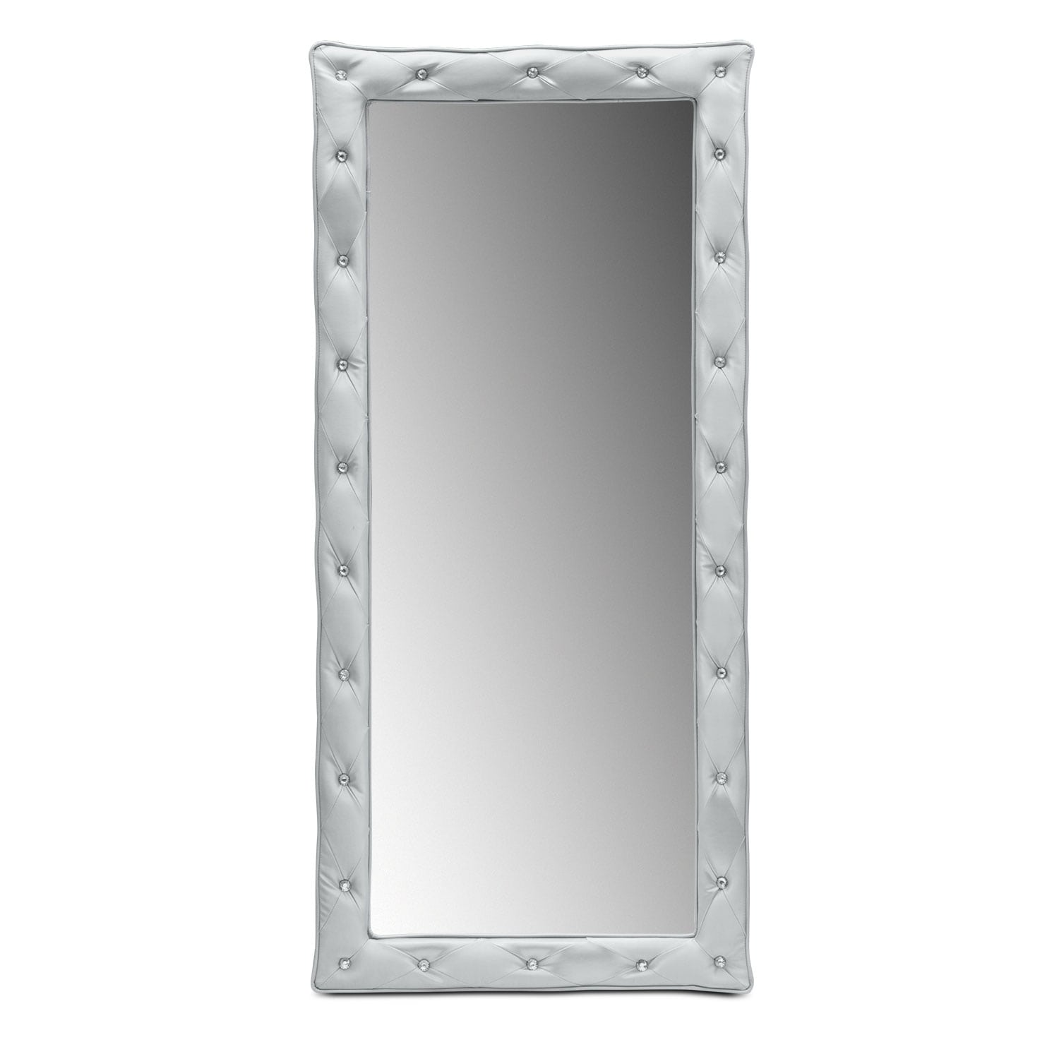 Kids Furniture - Valerie Silver Floor Mirror