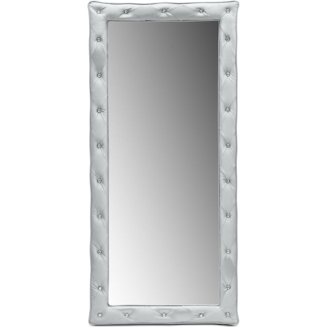 Kids Furniture - Valerie Floor Mirror - Silver