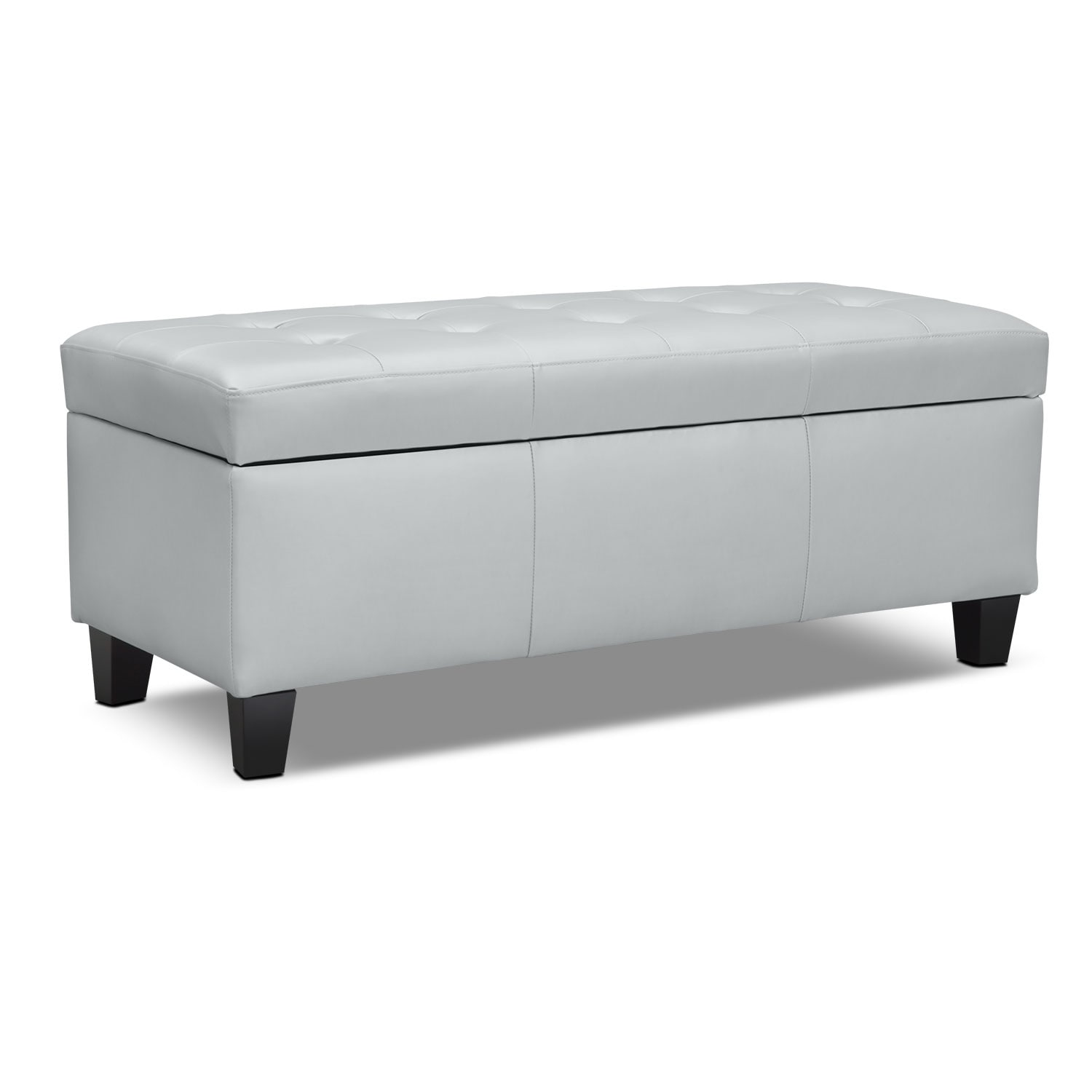 Kids Furniture - Valerie Silver Storage Bench