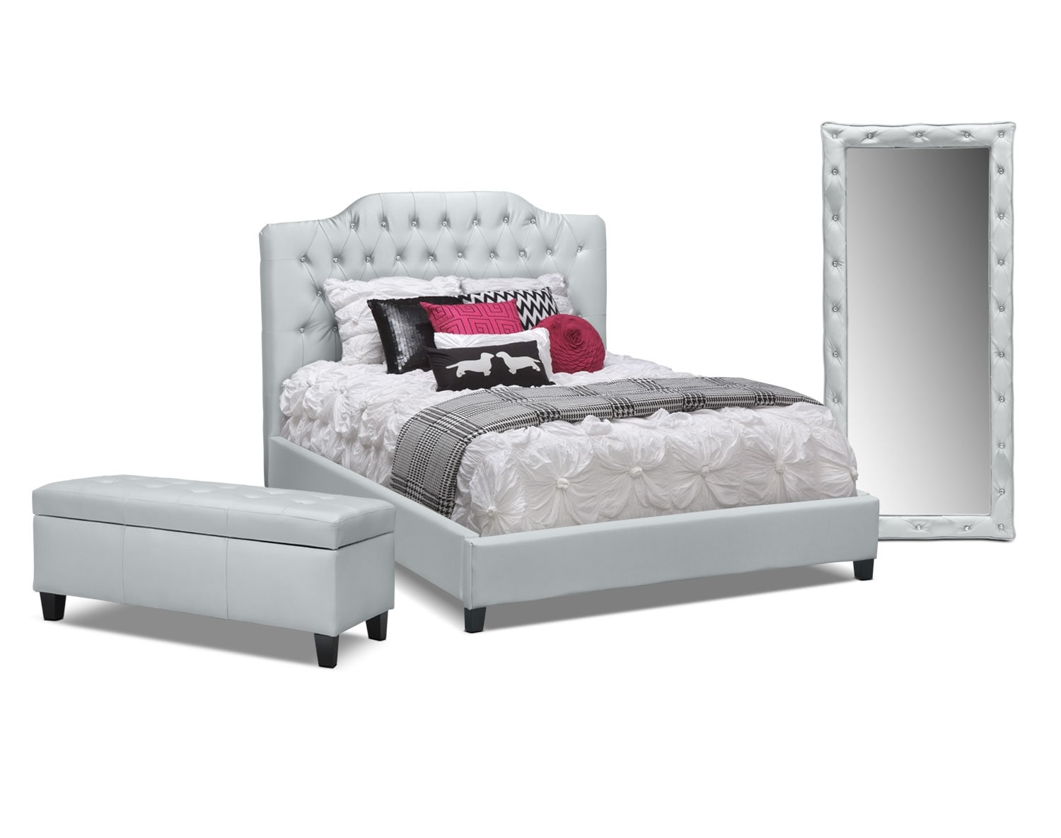 The Valerie Collection Silver Value City Furniture and Mattresses