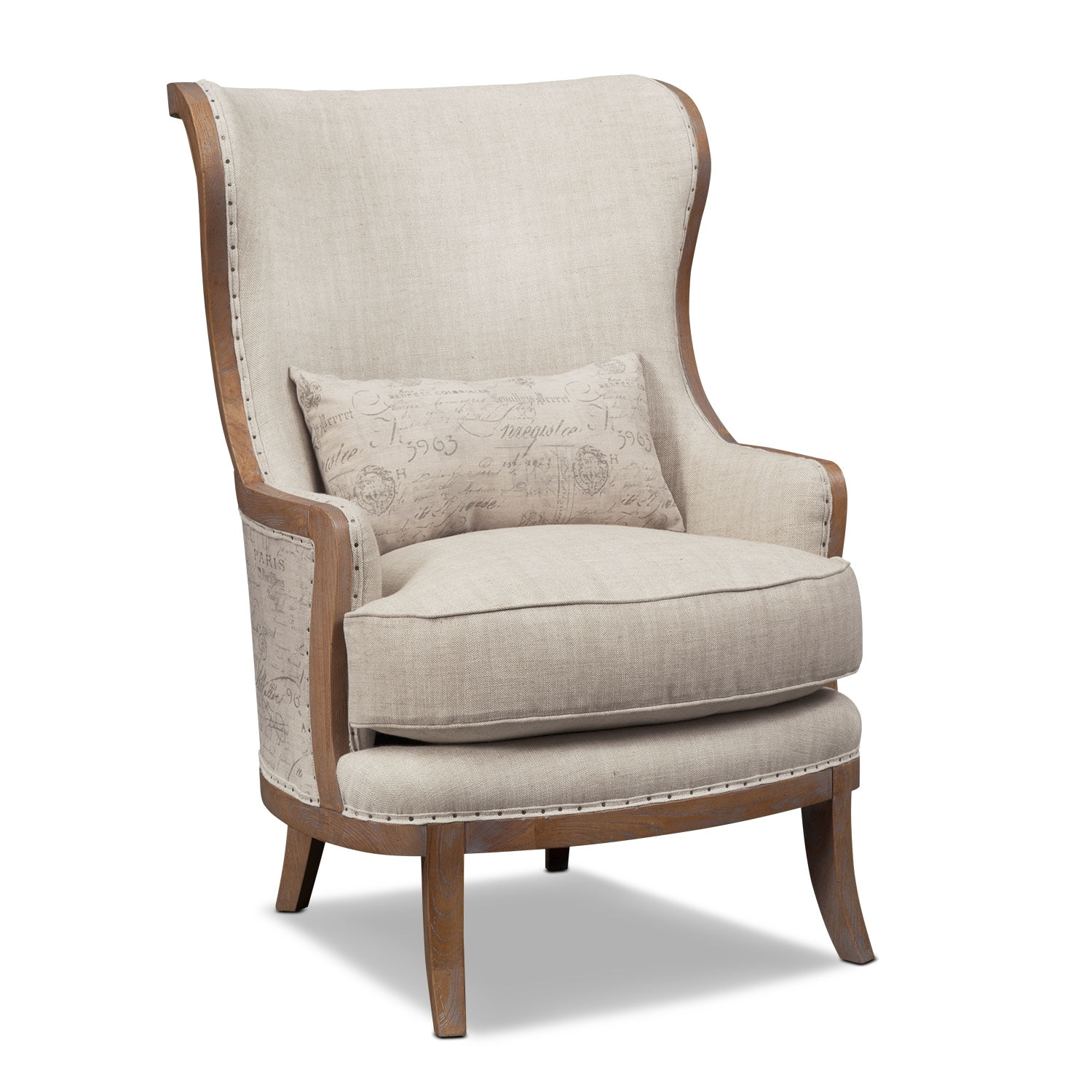 Madeline Beige Framed Accent Chair