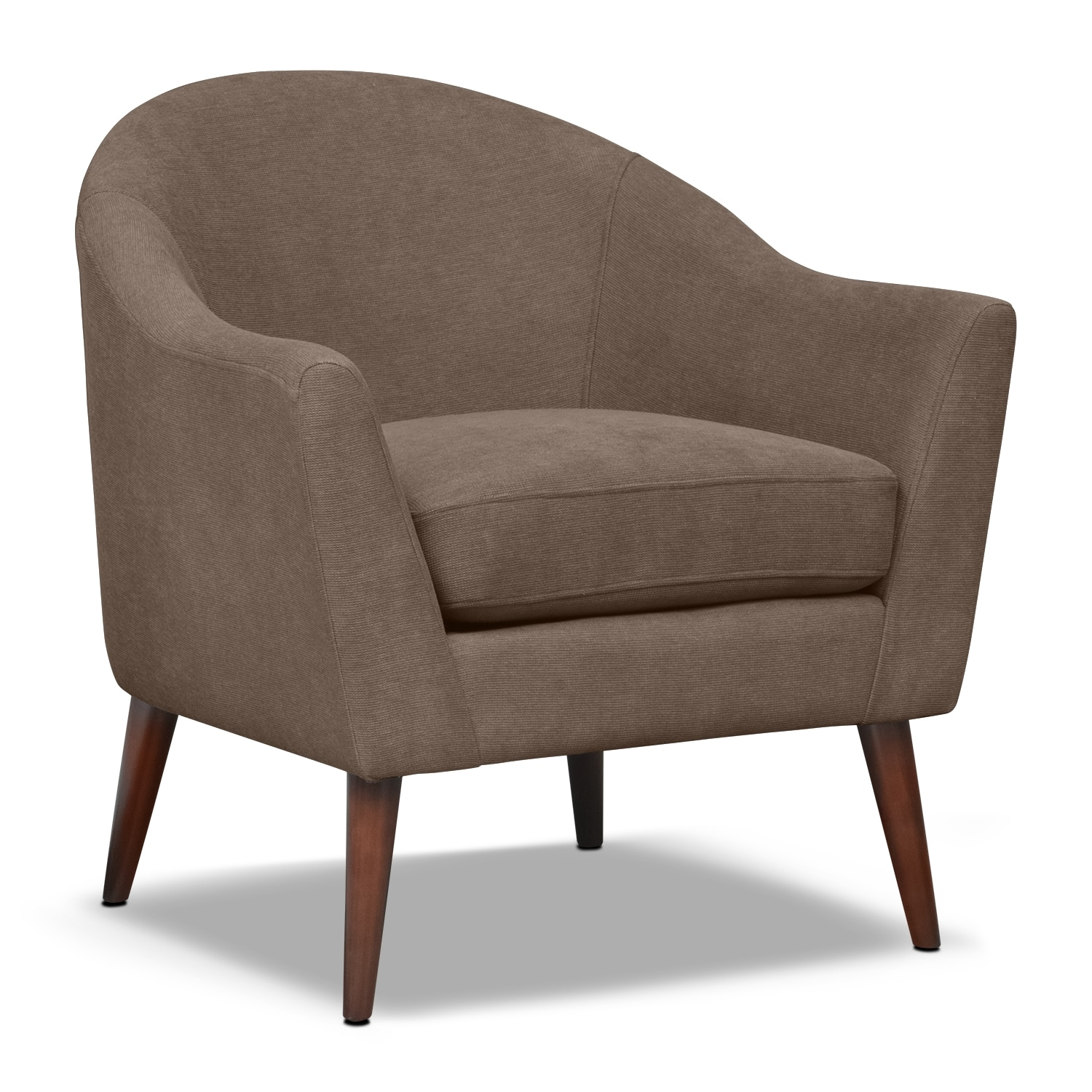 Accent and Occasional Furniture - Rosa Accent Chair - Mocha