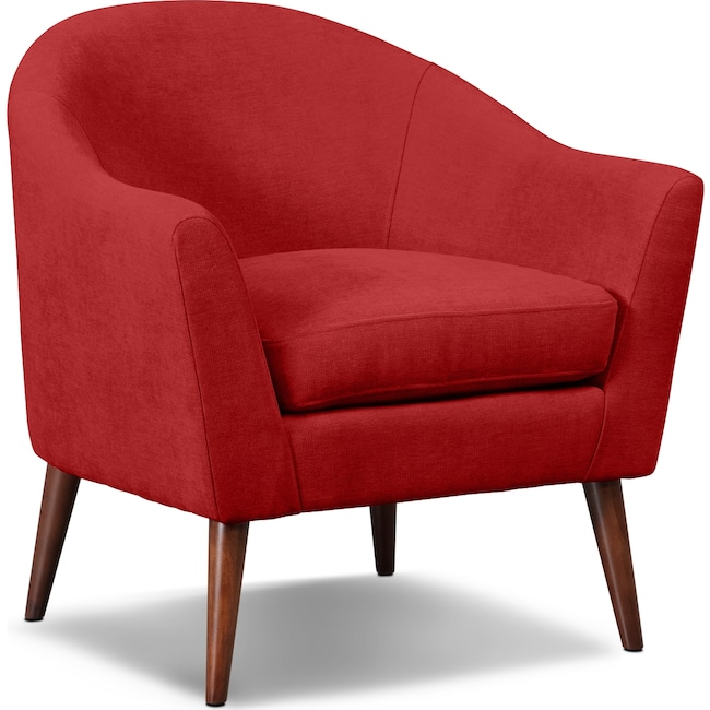 Accent and Occasional Furniture - Rosa Accent Chair - Red