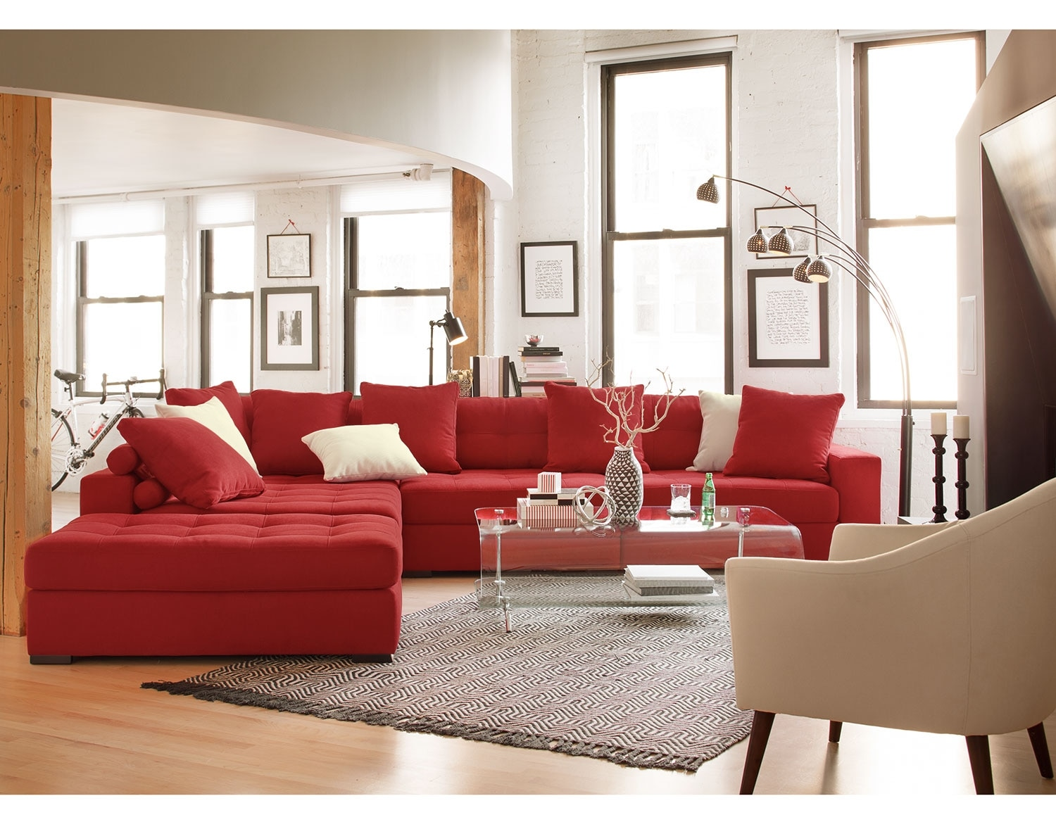 The Venti Collection Red Value City Furniture and Mattresses