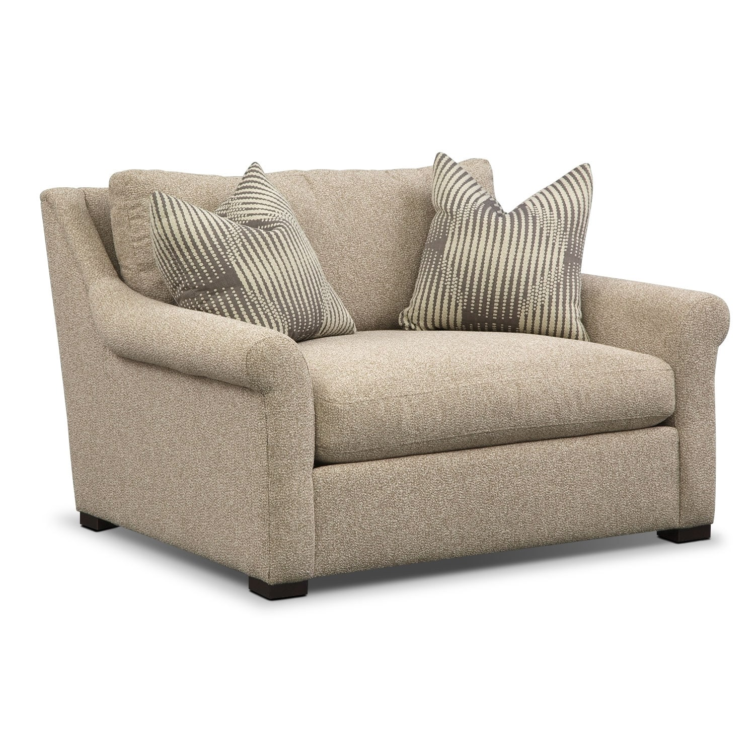 Robertson fort Sofa Loveseat and Chair and a Half Set Beige
