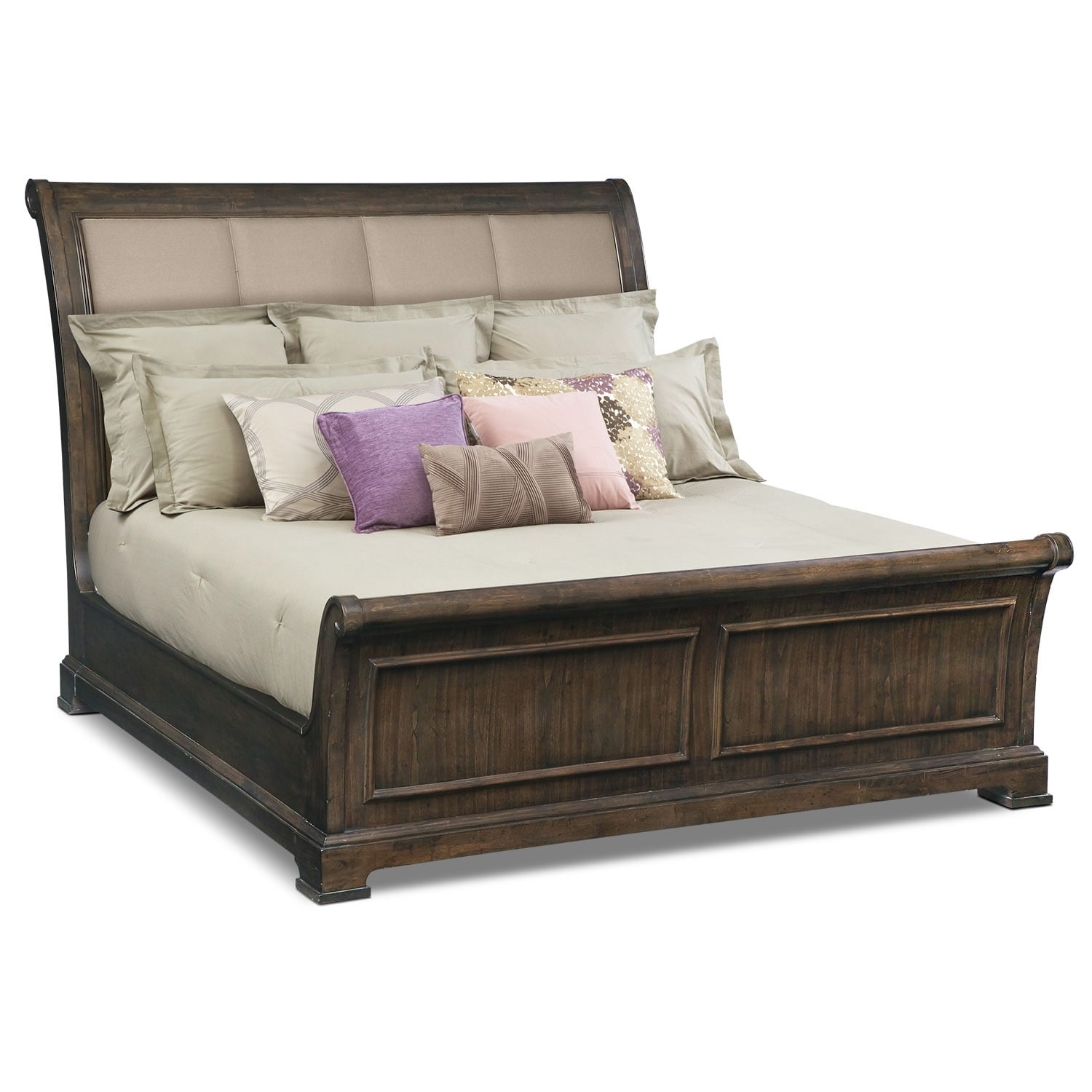 Bedroom Furniture - Collinwood King Bed - Brown