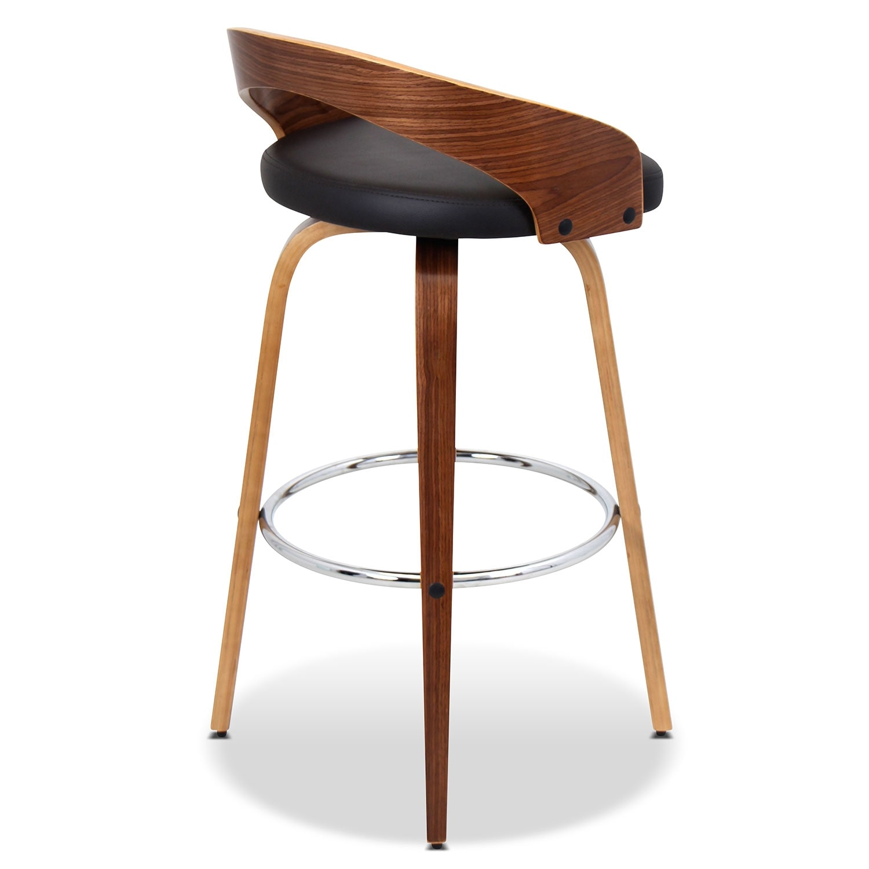 Cocina Barstool Walnut Value City Furniture