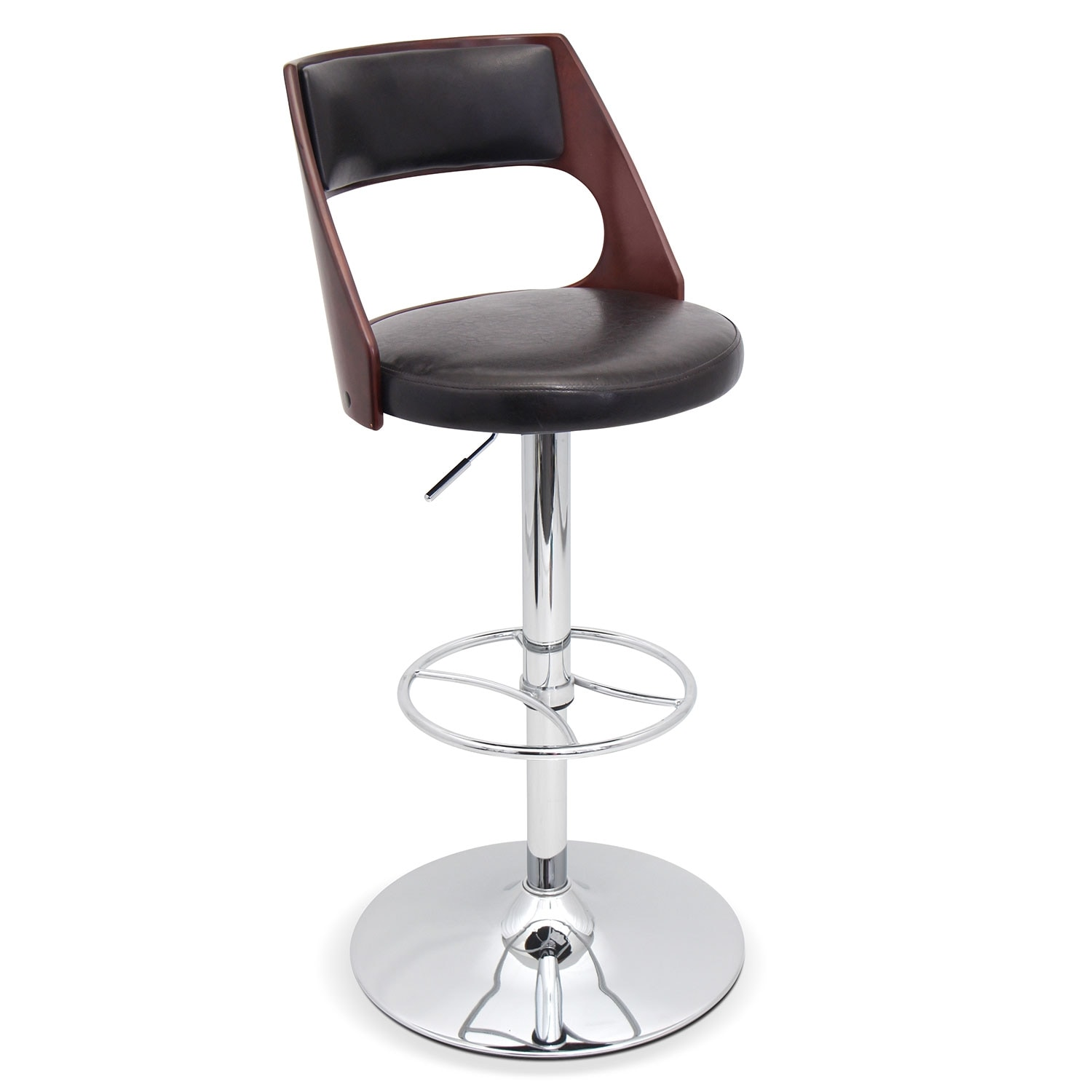 Accent and Occasional Furniture - Palermo Adjustable Barstool - Brown