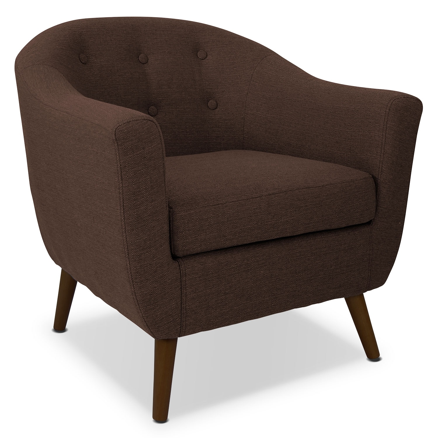 Living Room Furniture - Norman Accent Chair - Espresso