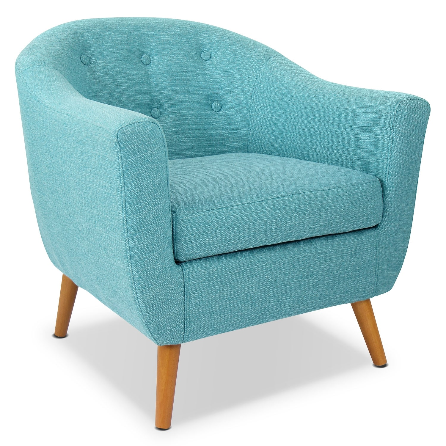 Living Room Furniture   Norman Accent Chair   Teal