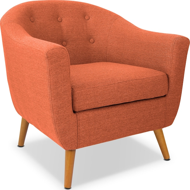 Accent and Occasional Furniture - Norman Accent Chair - Orange