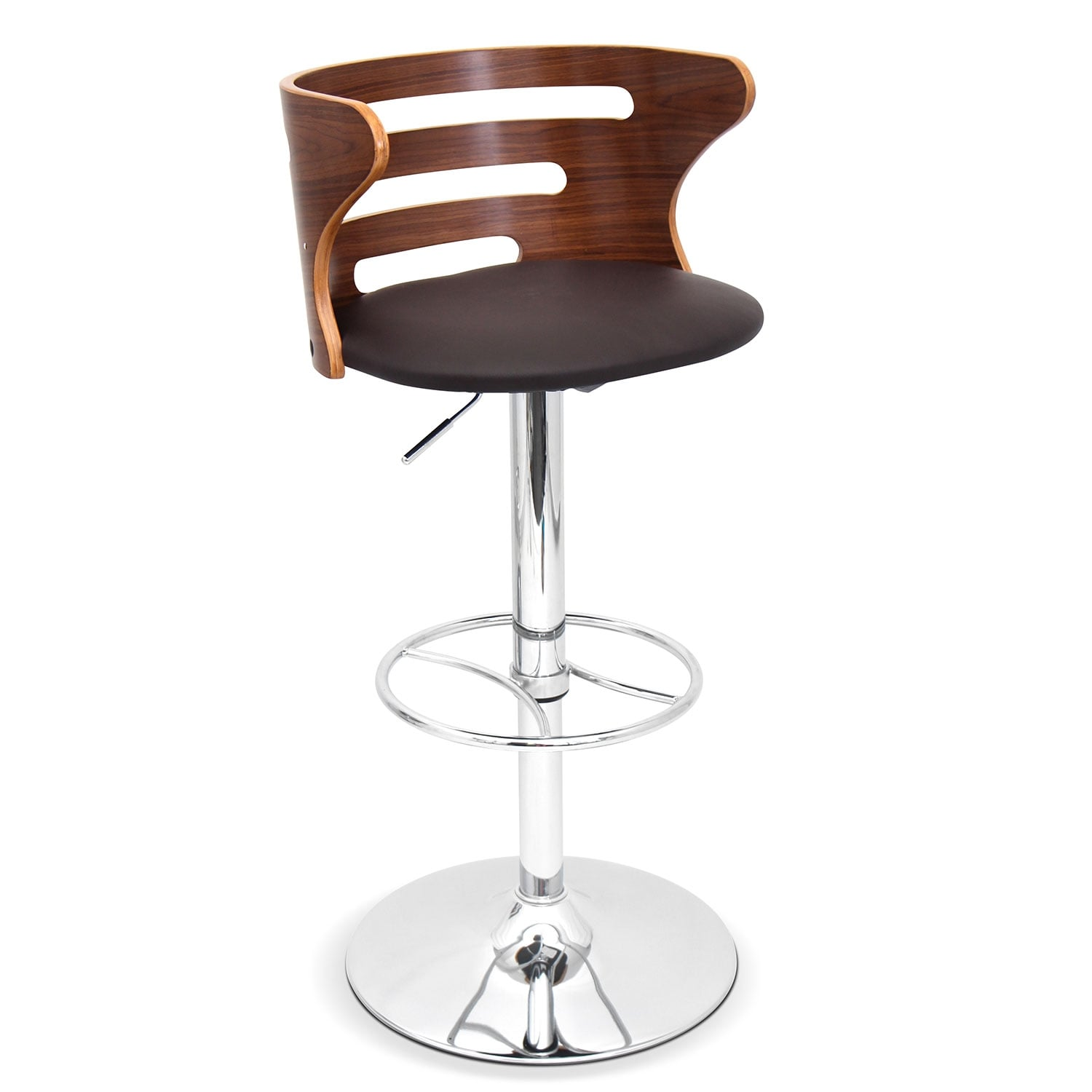 Eliza Adjustable Barstool Chrome Value City Furniture And Mattresses