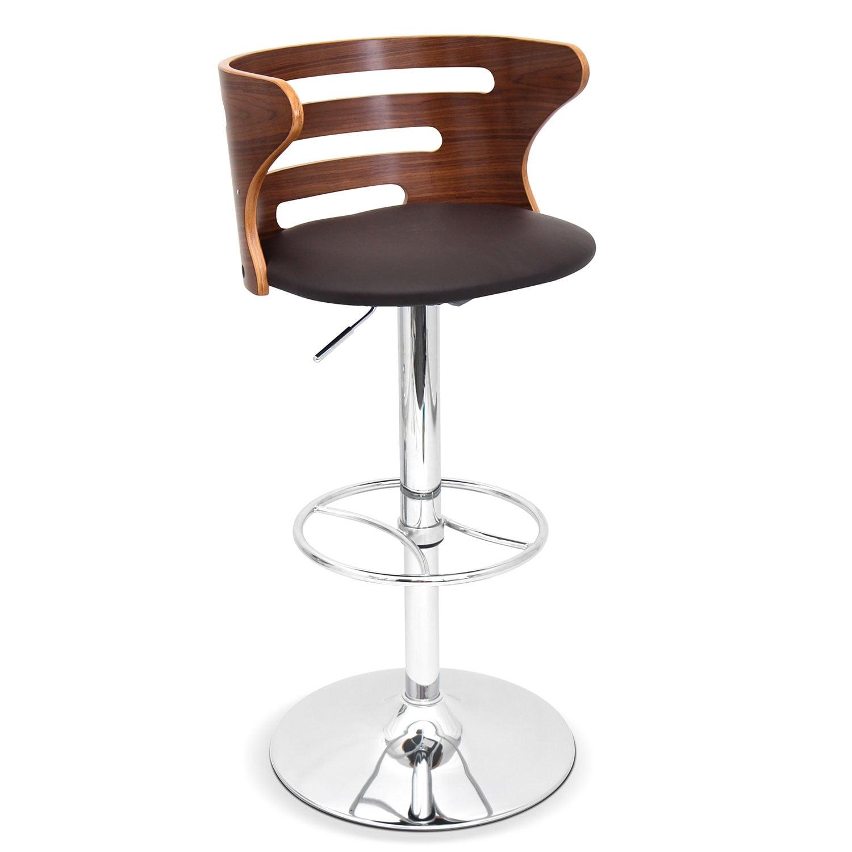 Eliza Adjustable Barstool Chrome Value City Furniture And Mattresses