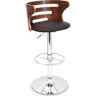 Eliza Adjustable Barstool - Chrome