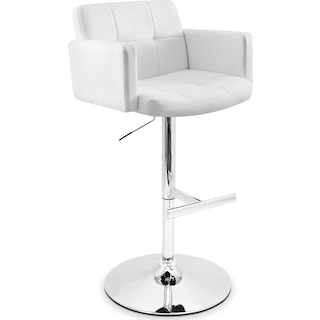 Porter Adjustable Barstool - White