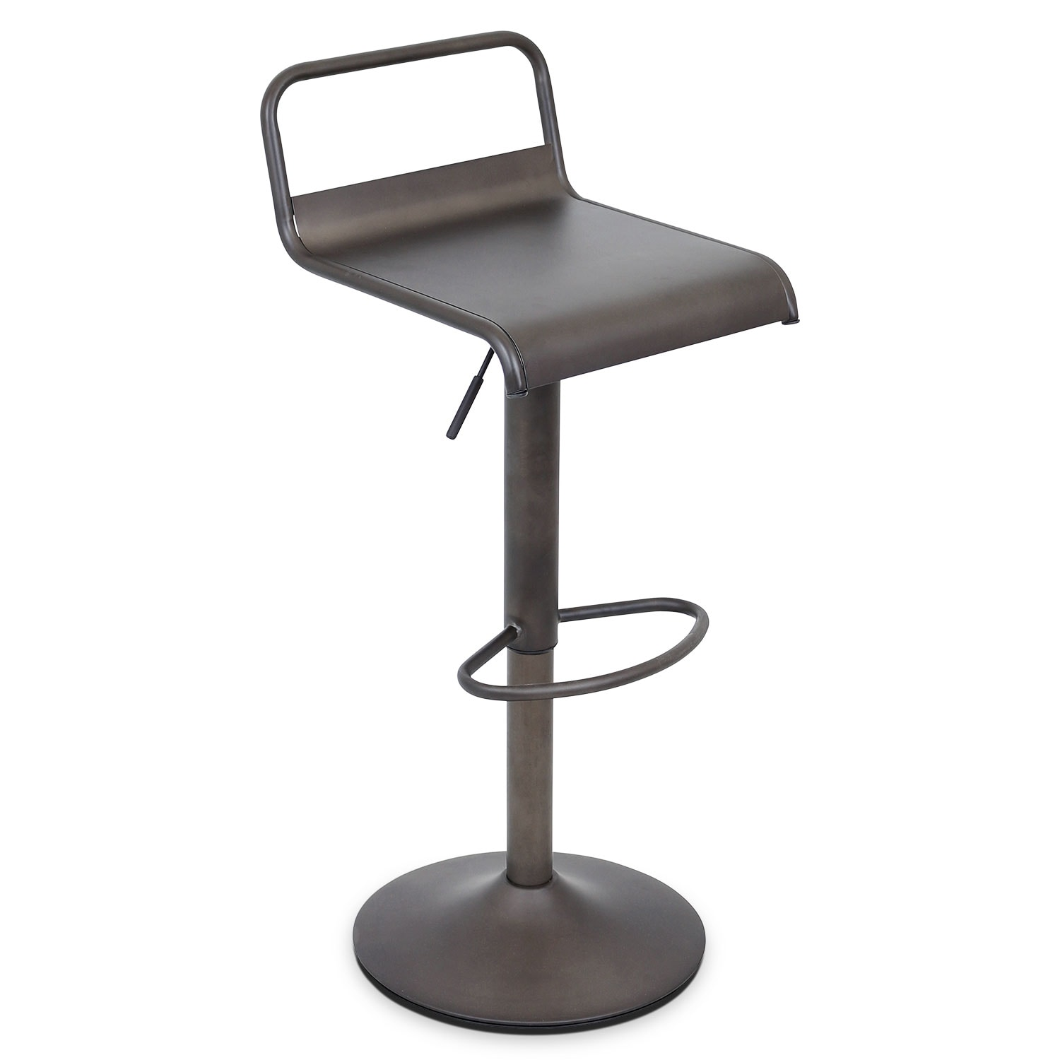 Duran Adjustable Barstool   Antique Black ...