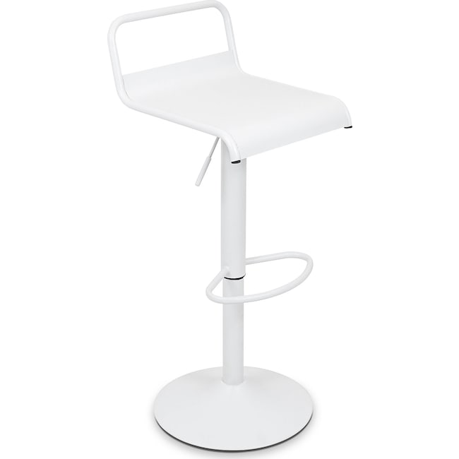 Accent and Occasional Furniture - Duran Adjustable Barstool - Antique White