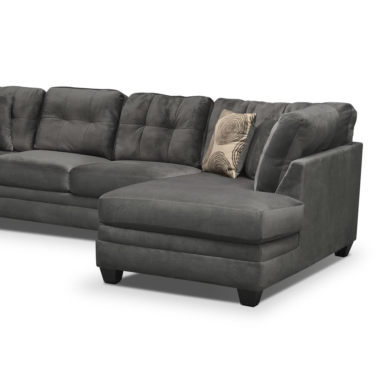 Cordelle 3-Piece Sectional - Gray | Value City Furniture