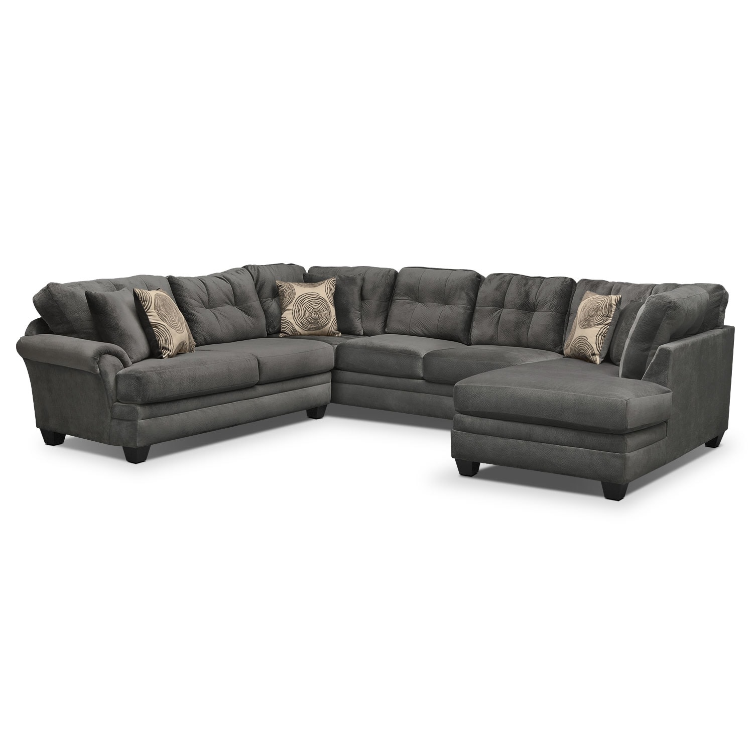 Cordelle 3 Piece Sectional Gray