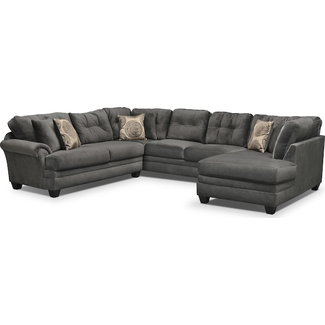 furniture alta room sectional living chenille couch facing piece right grey sectionals brick gray with the search chaise