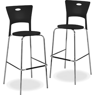 Leo 2-Pack Barstools - Black