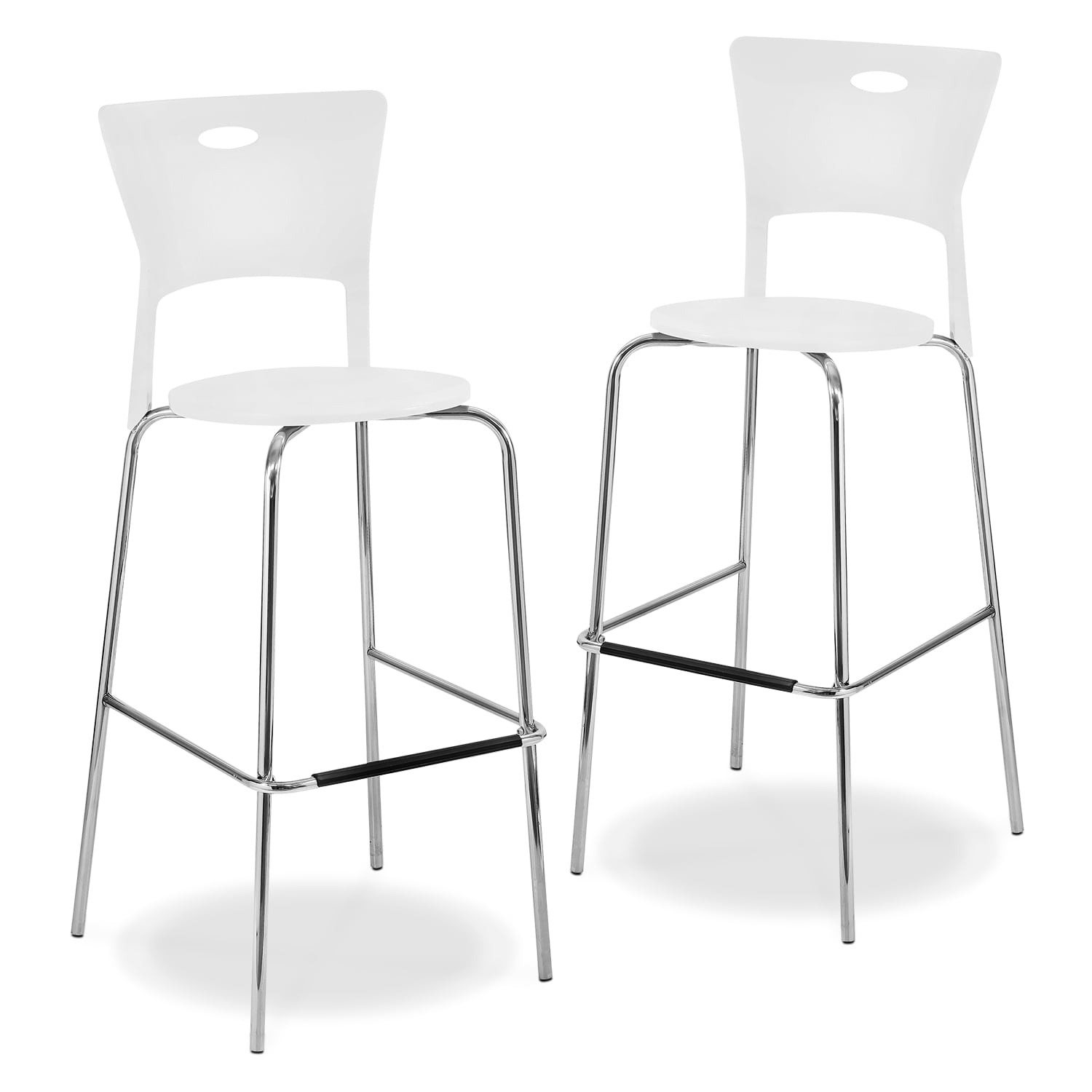 Accent And Occasional Furniture   Leo 2 Pack Barstools   White