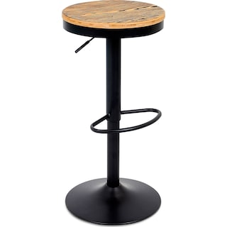 Rustic Adjustable Barstool - Black
