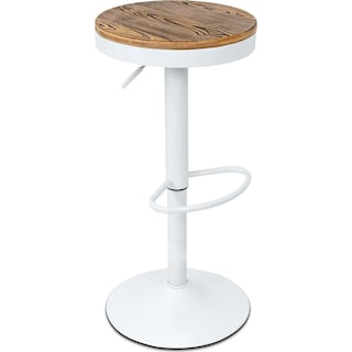 Rustic Adjustable Barstool - White
