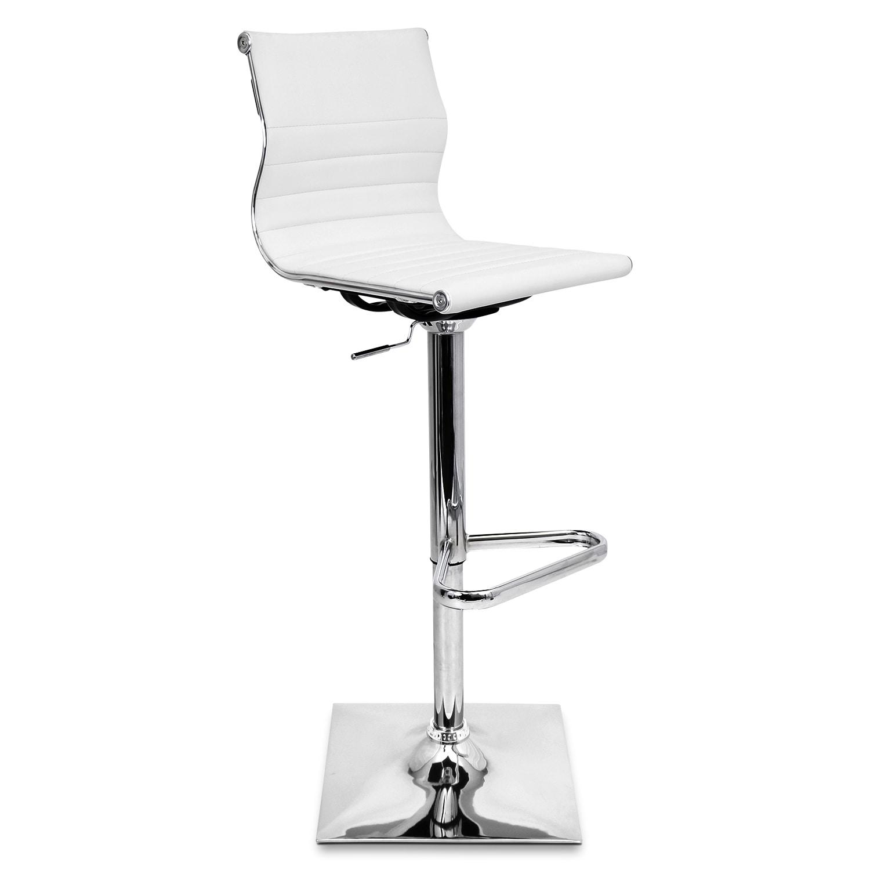 Pierce Adjustable Barstool - White