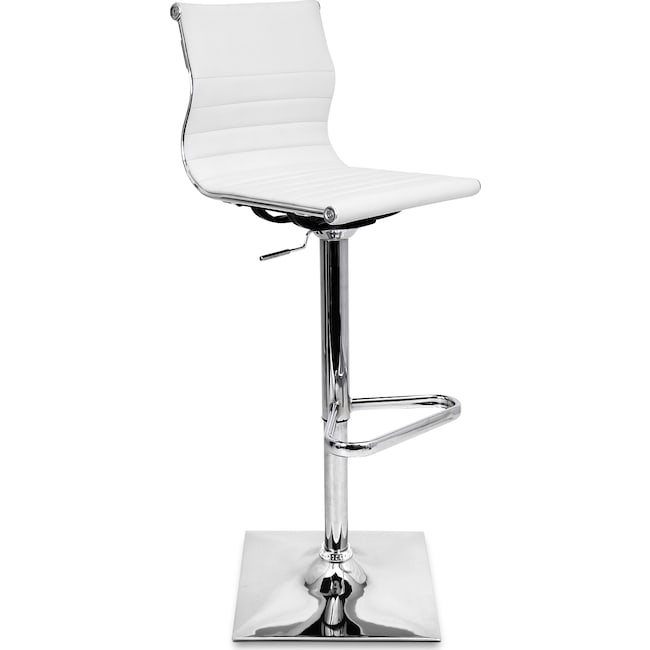 Accent and Occasional Furniture - Pierce Adjustable Barstool - White