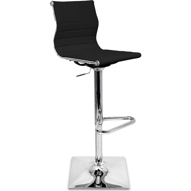 Accent and Occasional Furniture - Pierce Adjustable Barstool - Black