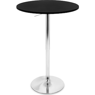 Frankie Adjustable Bar Table - Black