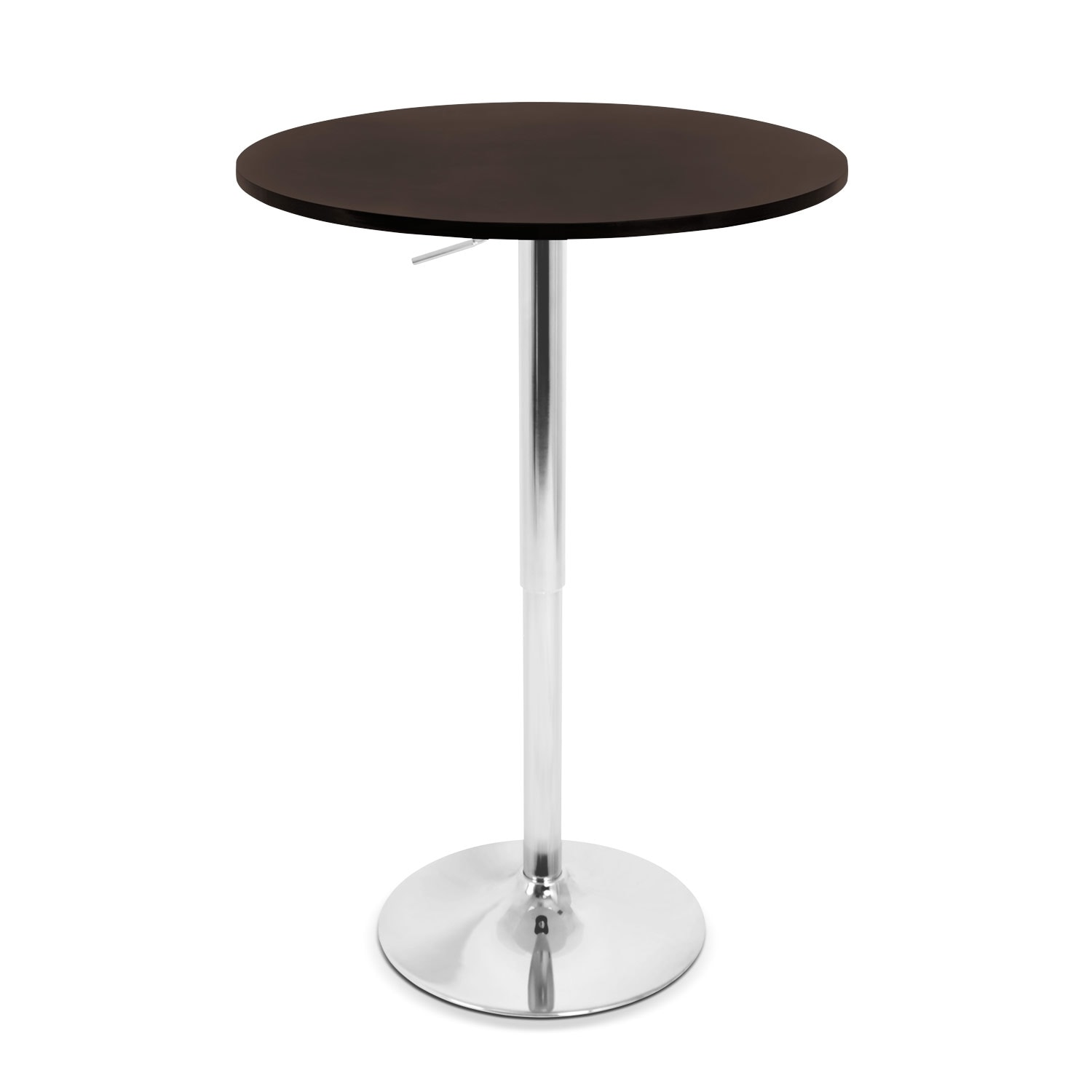 [Frankie Adjustable Bar Table - Brown]