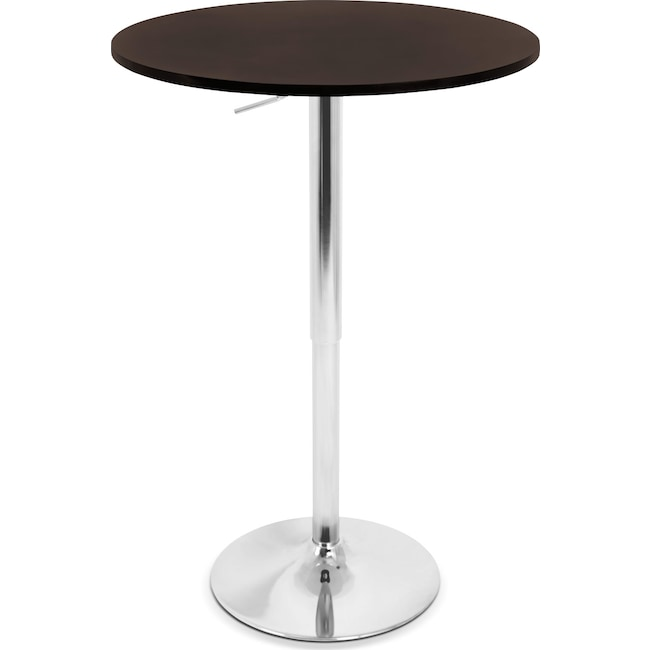 Accent and Occasional Furniture - Frankie Adjustable Bar Table - Brown