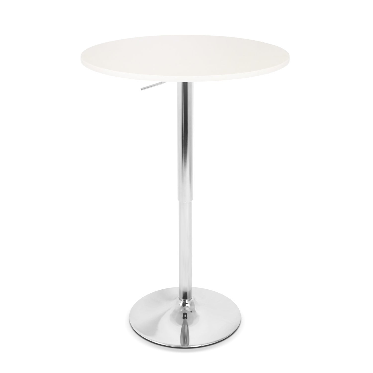 Accent and Occasional Furniture - Frankie Adjustable Bar Table - White