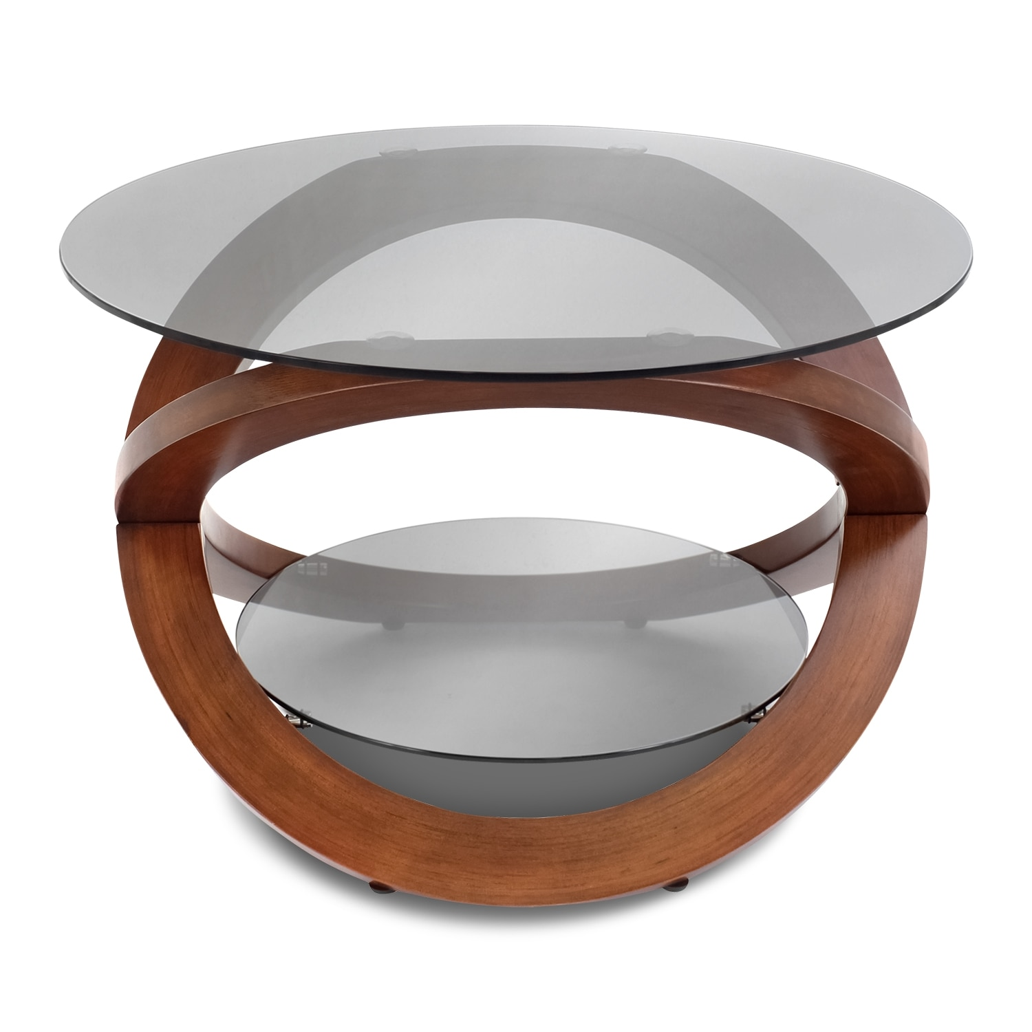 Aiden Coffee Table Walnut Value City Furniture