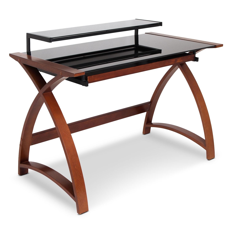Home Office Furniture - Amber Desk - Brown
