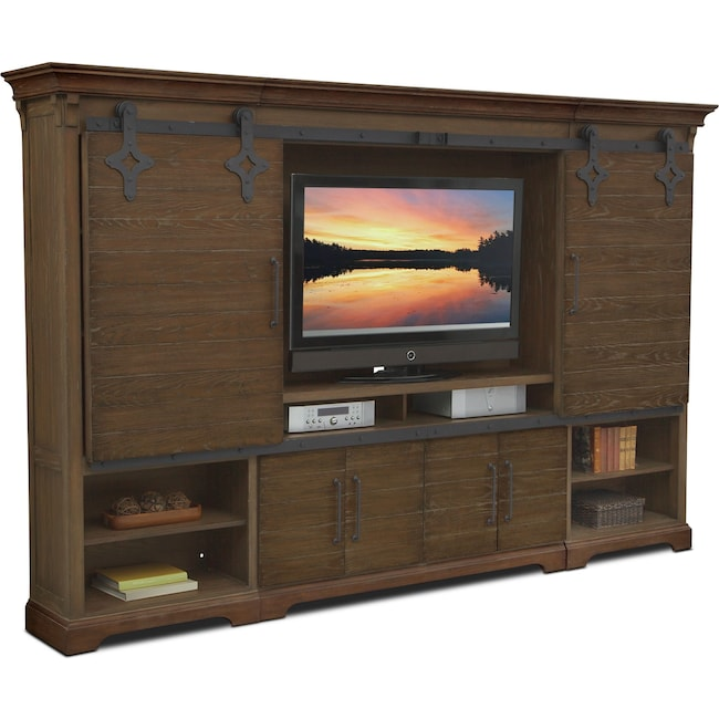 Entertainment Furniture Union City Wall Unit Brown