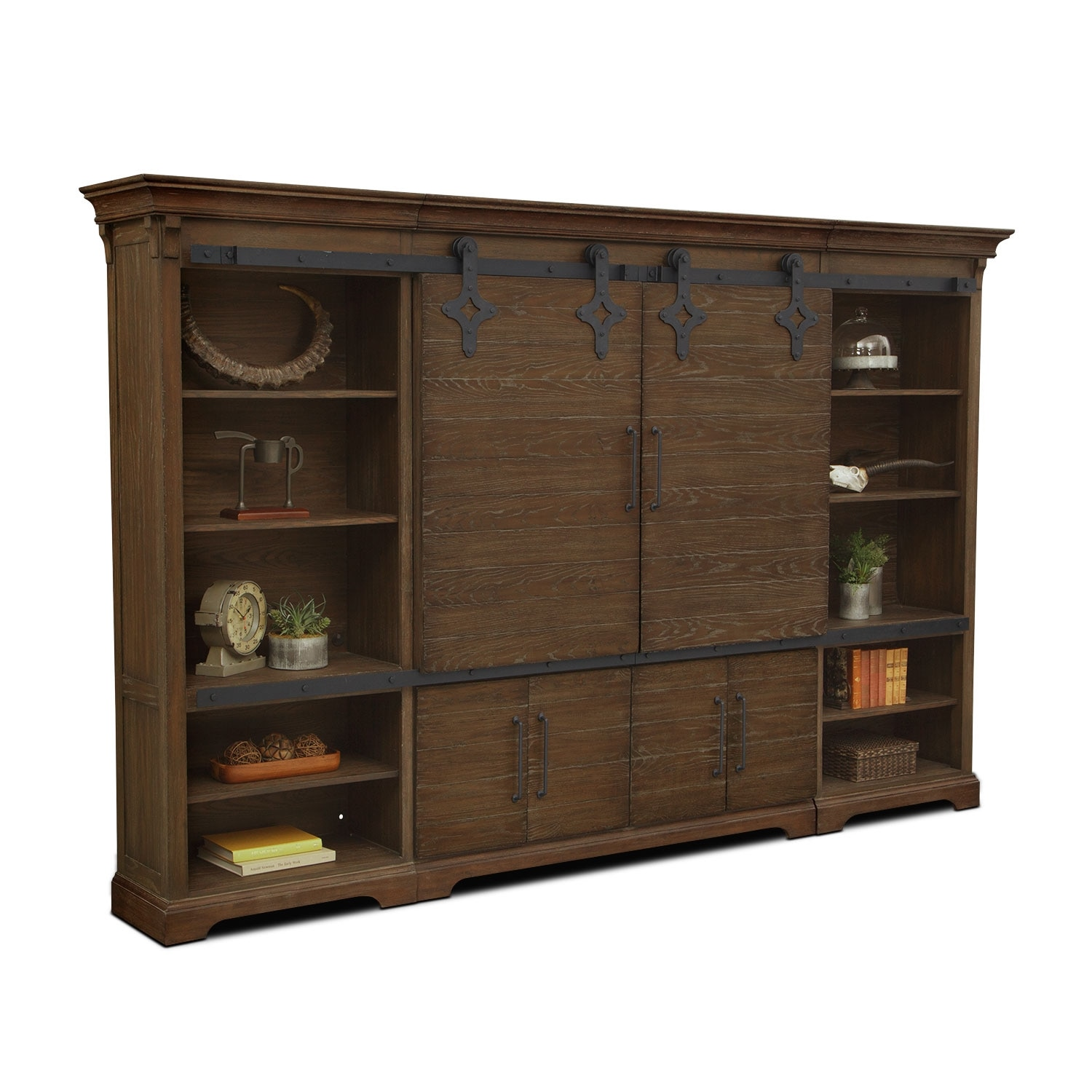 Union City Entertainment Wall Unit Brown Value City