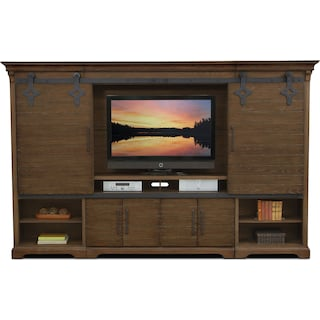 Union City Entertainment Wall Unit - Brown