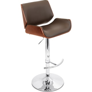 Catania Adjustable Barstool - Brown