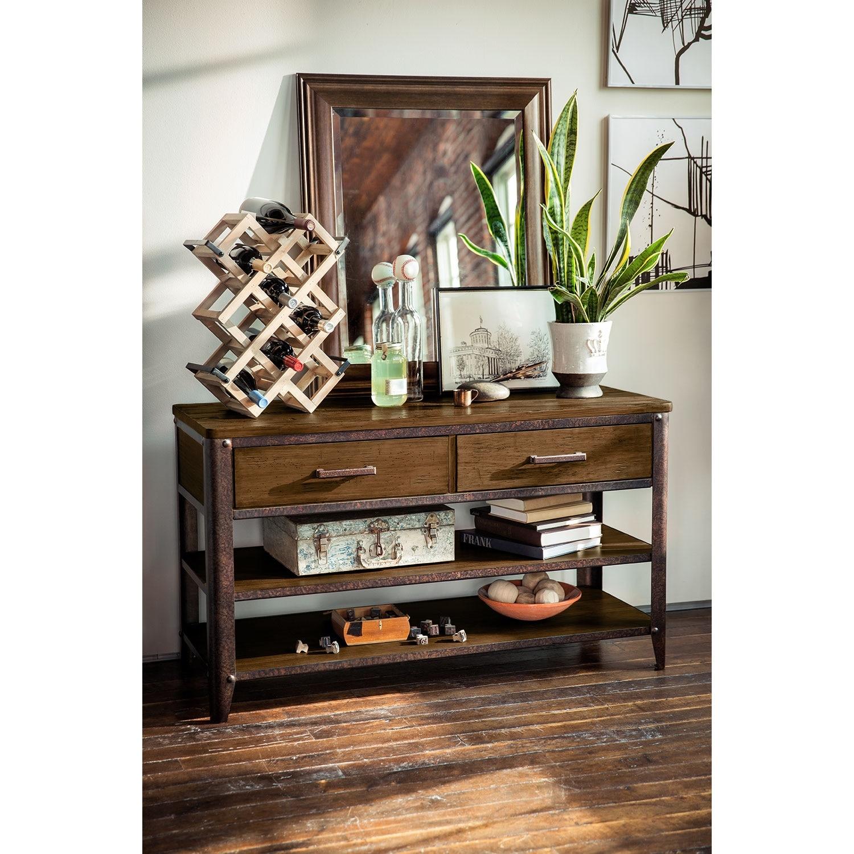 Shortline Sofa Table Distressed Pine