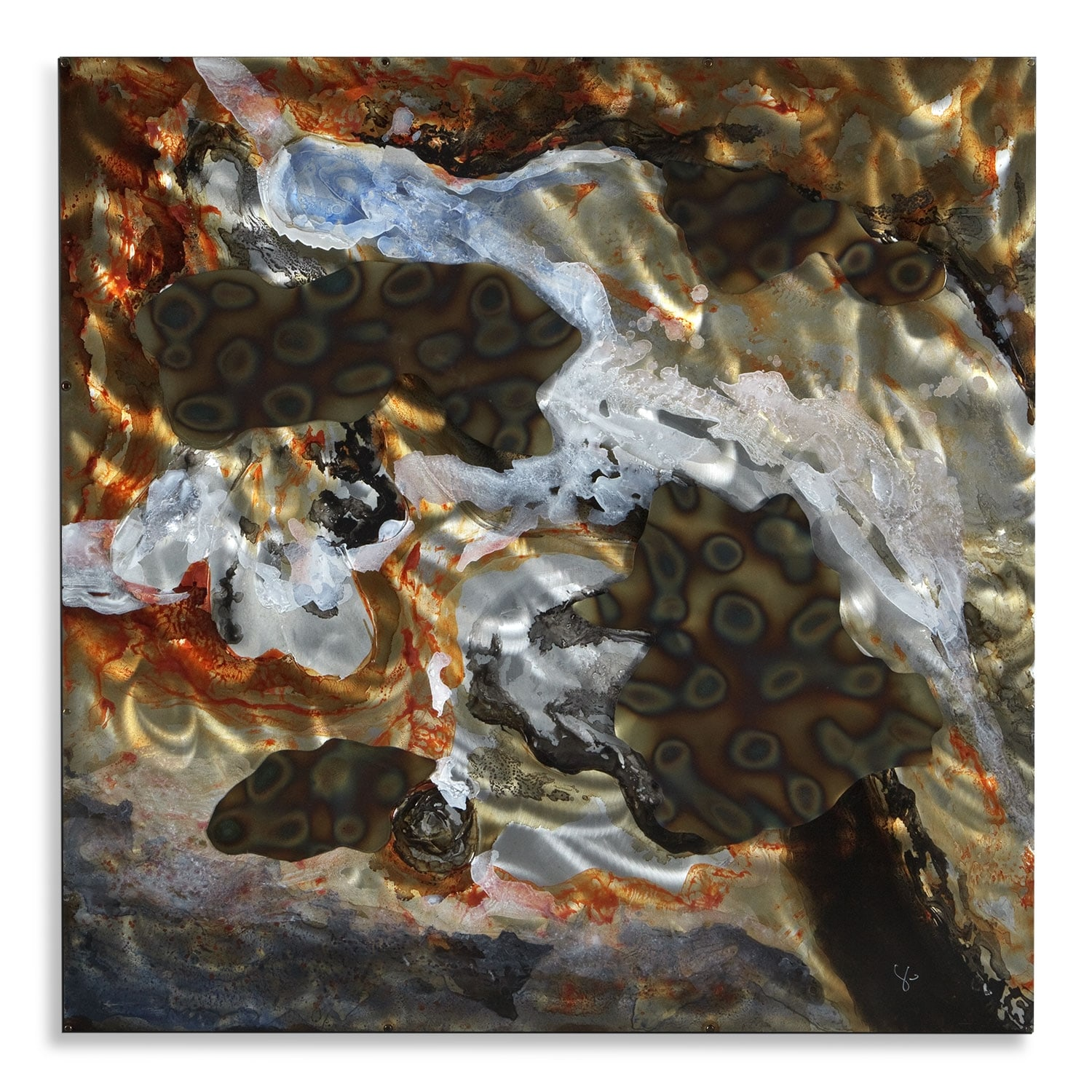 Home Accessories - Arizona Aerial Mixed Media Painting