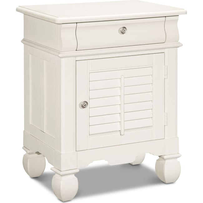 Kids Furniture - Plantation Cove Door Nightstand - White
