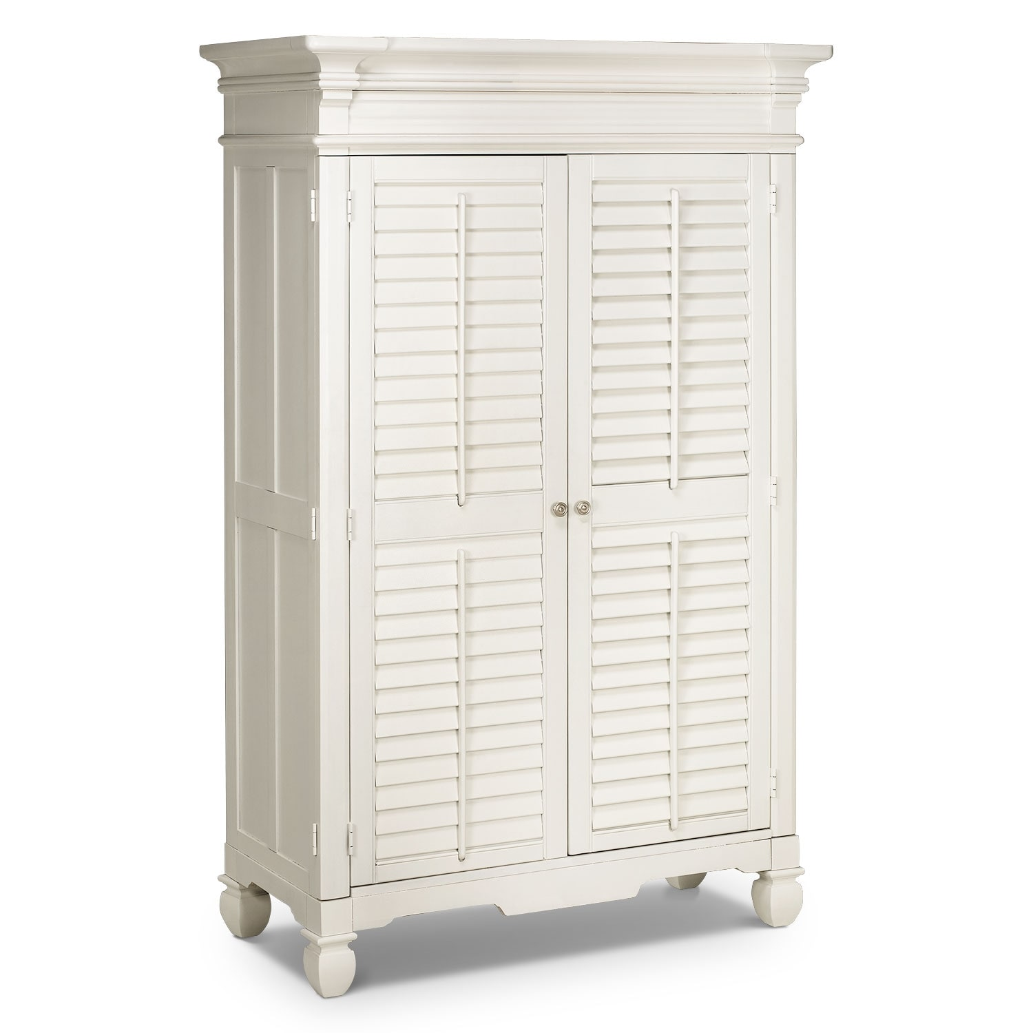 Bedroom Furniture - Plantation Cove Armoire - White