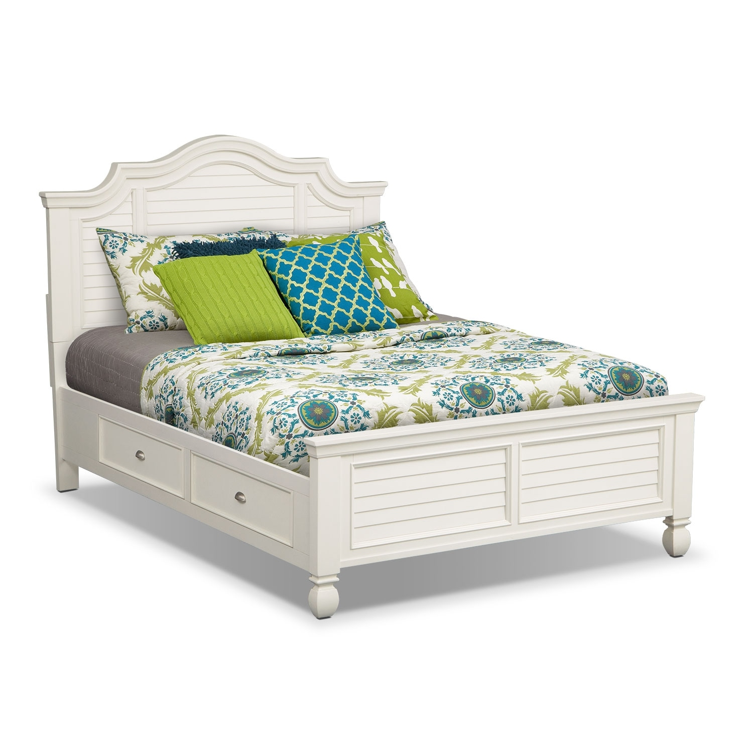 Plantation Cove Queen Storage Bed - White