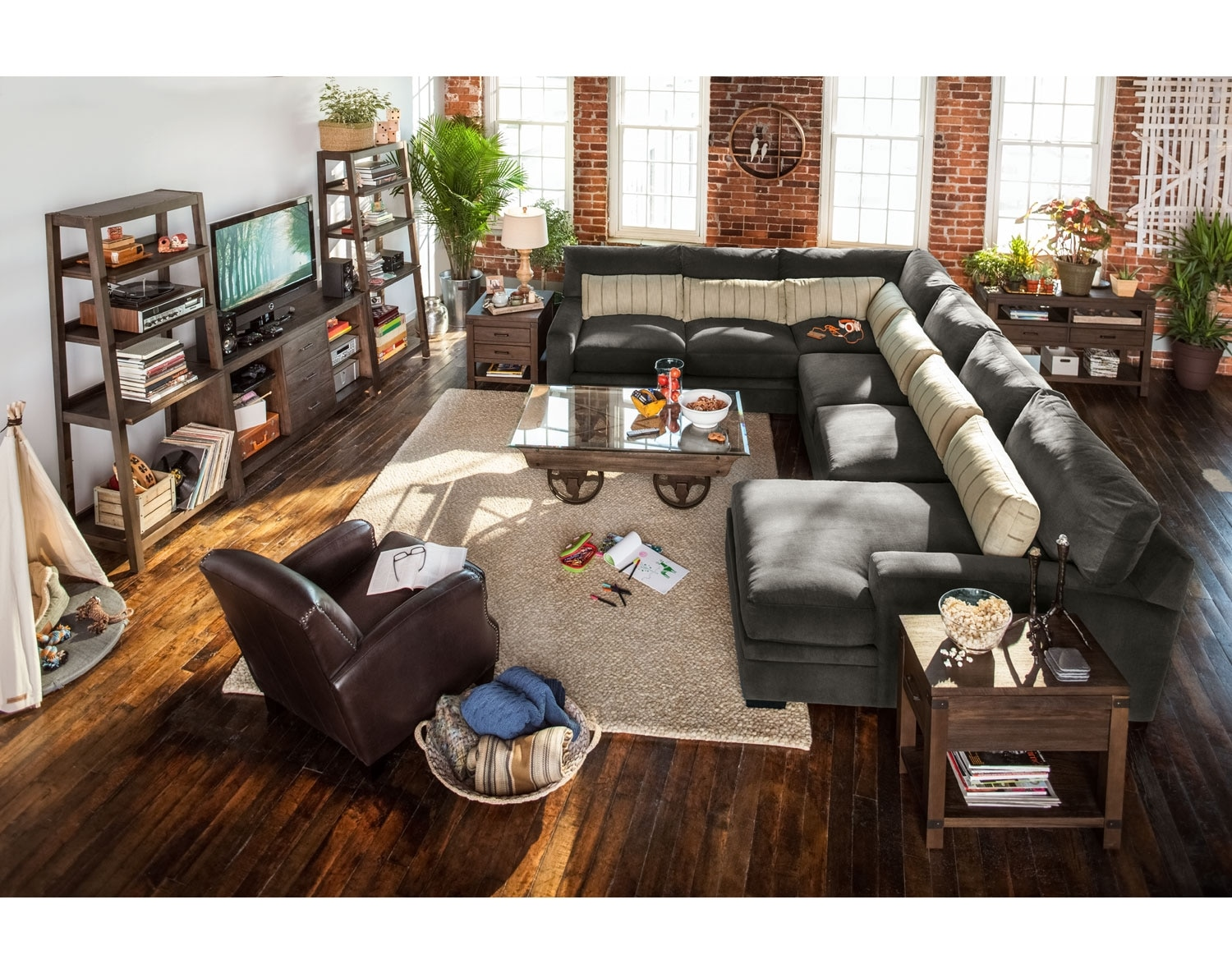 The Ventura Charcoal Sectional Collection