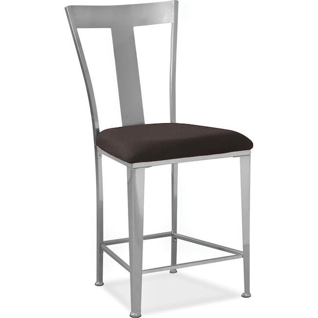 Accent and Occasional Furniture - Silverton Counter-Height Stool - Silver