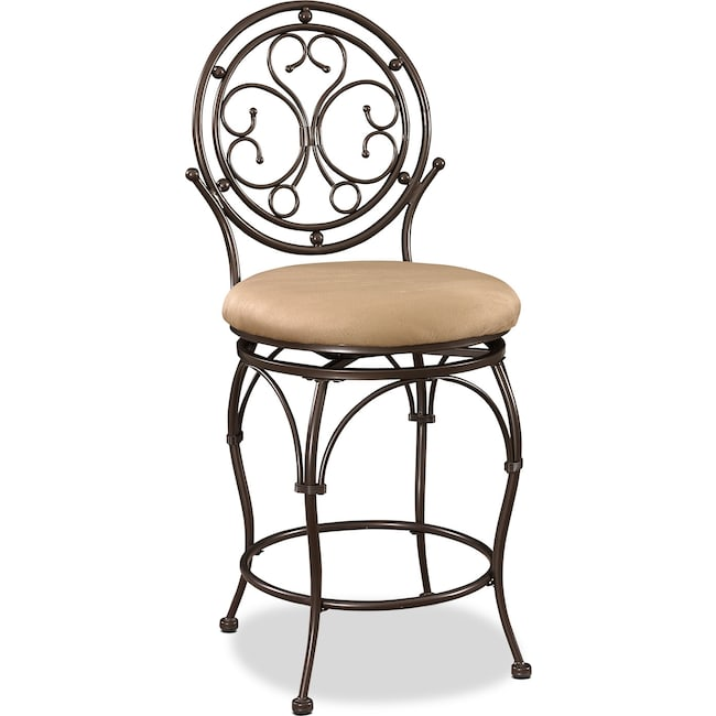 Laurel Counter Height Stool Bronze Value City Furniture And Mattresses